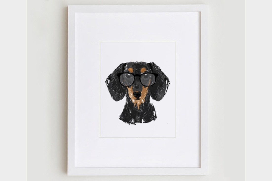 5x7 Dachshund Portrait Print   $14.00 by  Gus and Abby