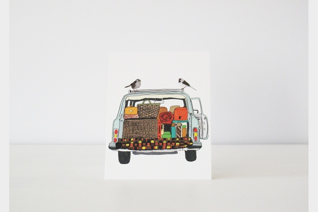 Going on a Journey Notecard $16 for set of 6, by  Screech Owl Design