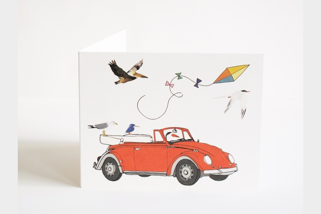 o with the Flow Notecards $16 for set of 6, by  Screech Owl Design