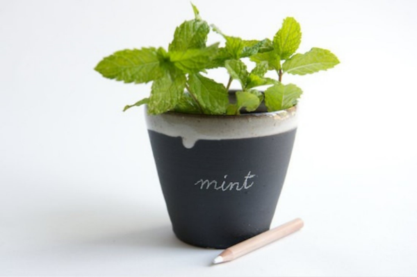 Black + White Ceramic Planter $28  by  Rosslab