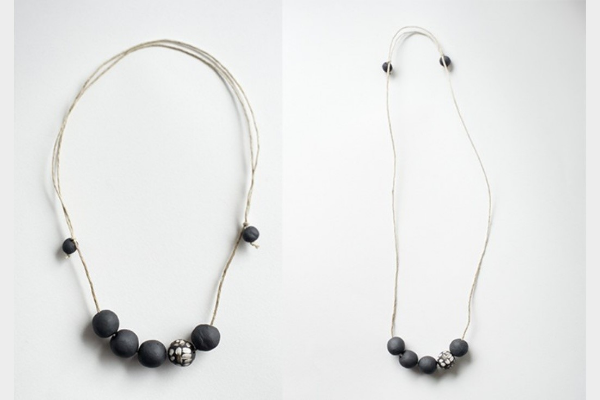 Black + White Handmade Necklace $34 by   Rosslab