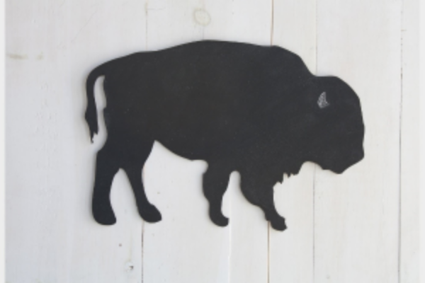 Buffalo Wooden Chalkboard $22   by   163 Design Company