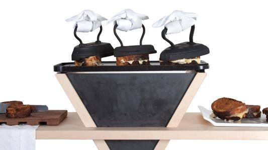 Iron Grilled Cheese Station by  Pinch Food Design