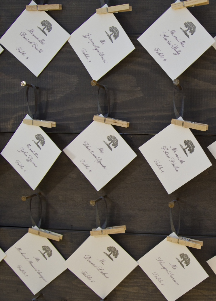 Escort Card Inspiration | LIG Events - Washington, DC Wedding and Event Planners