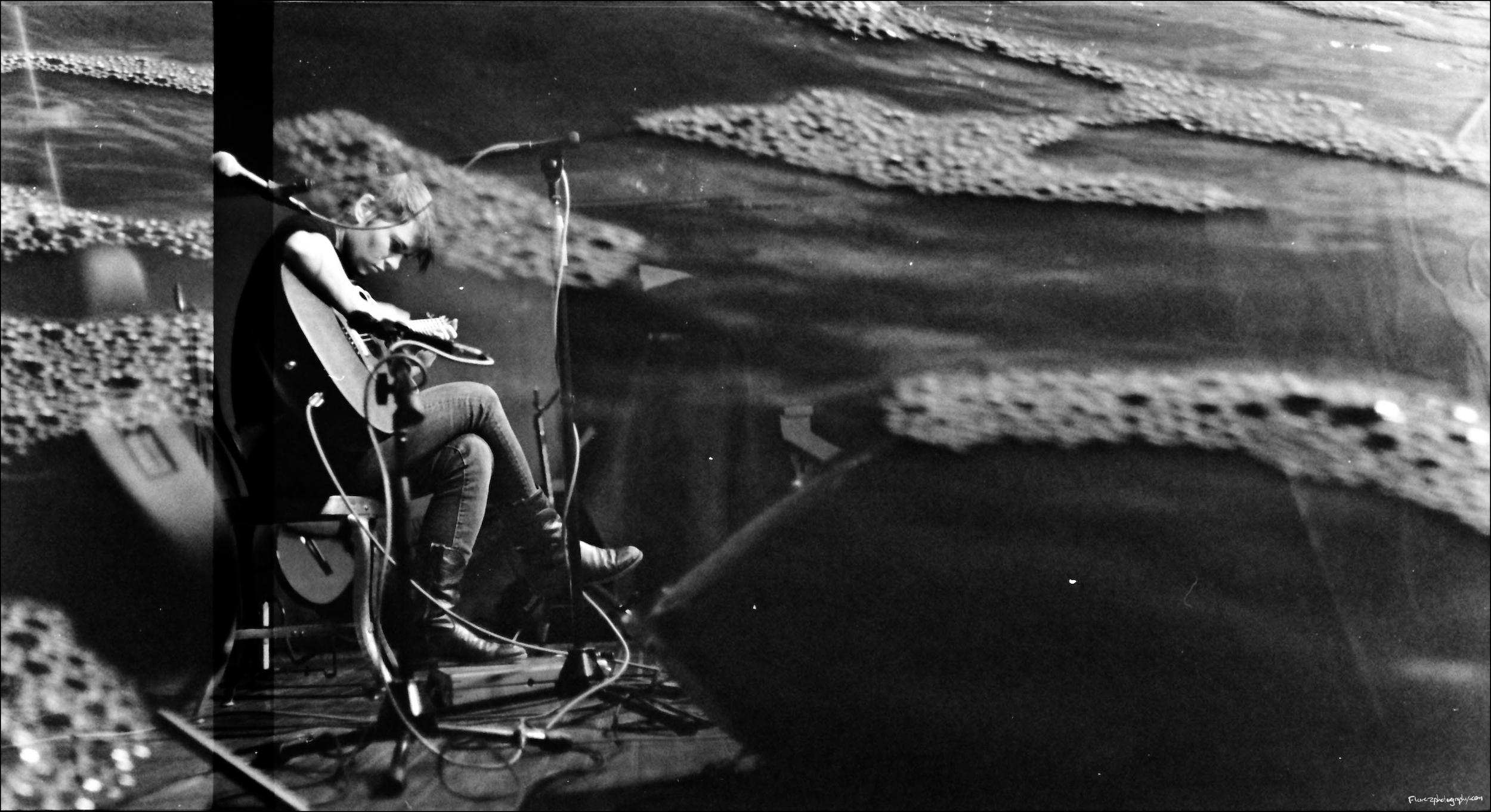 Kaki King (double exposed on 35mm film)