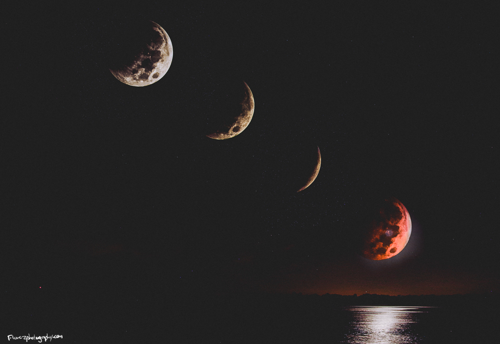 Lunar phases over St. Augustine.
