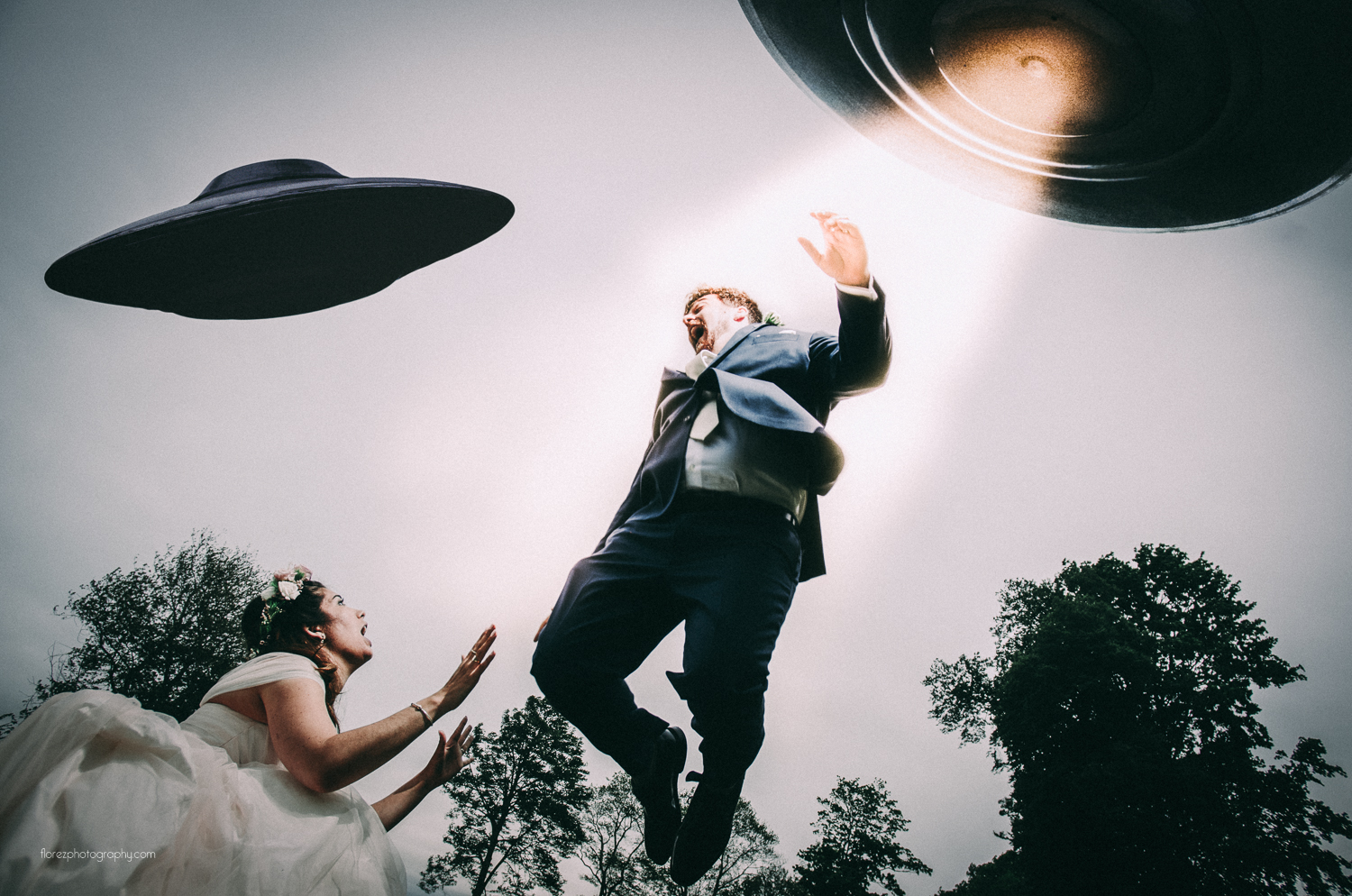 Wedding photo or low budget science fiction movie still?