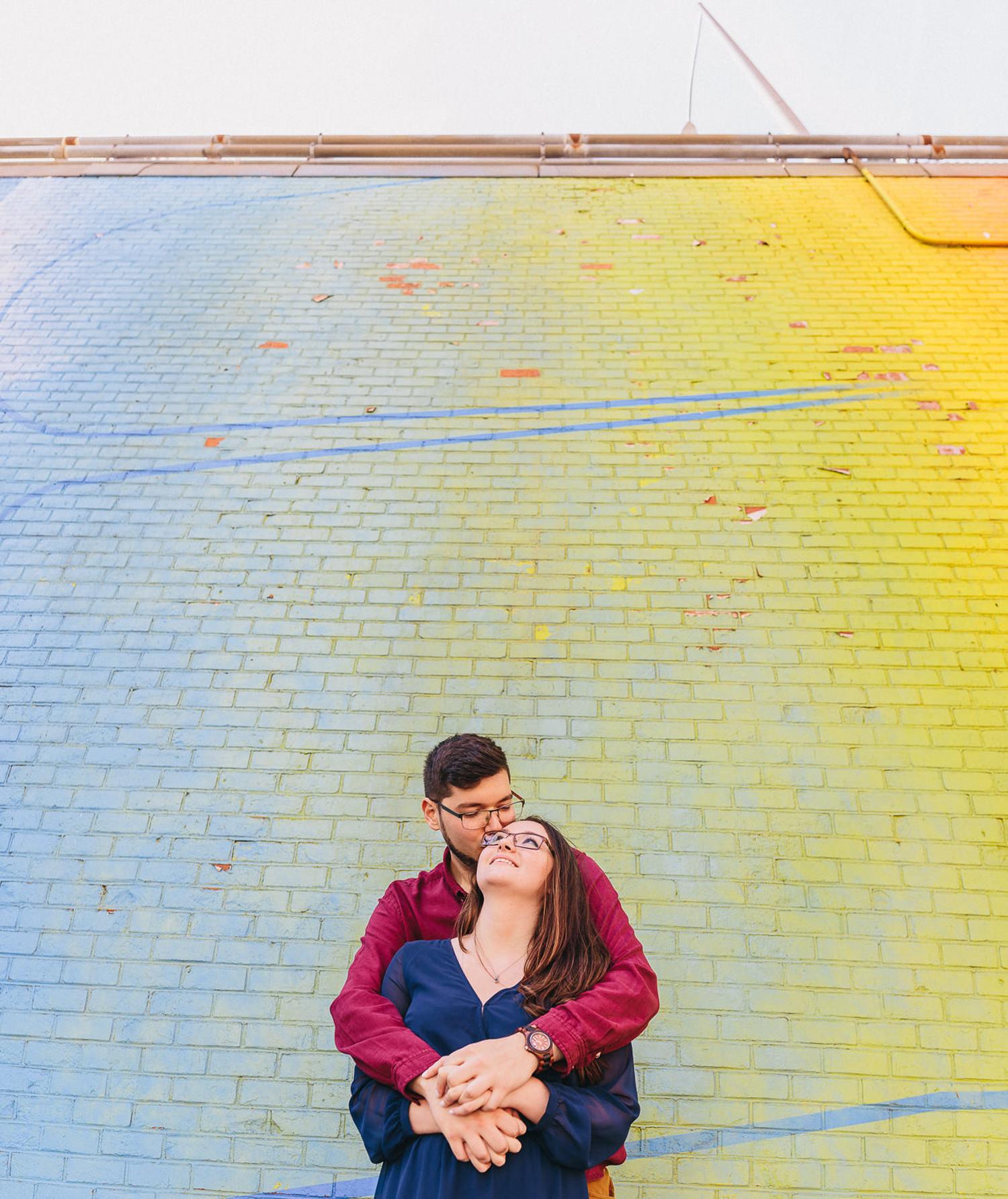Desiree and Ryker Brooklyn Bridge Park Engagement
