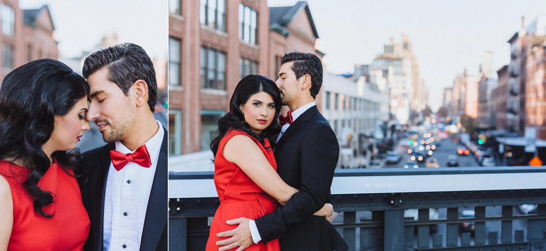 Anna & Ben's Chic High Line NYC Engagement