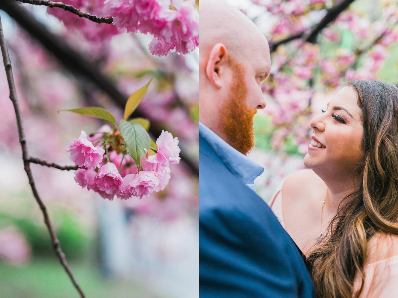 Angela & Jame's Central Park Cherry Blossom Engagemet
