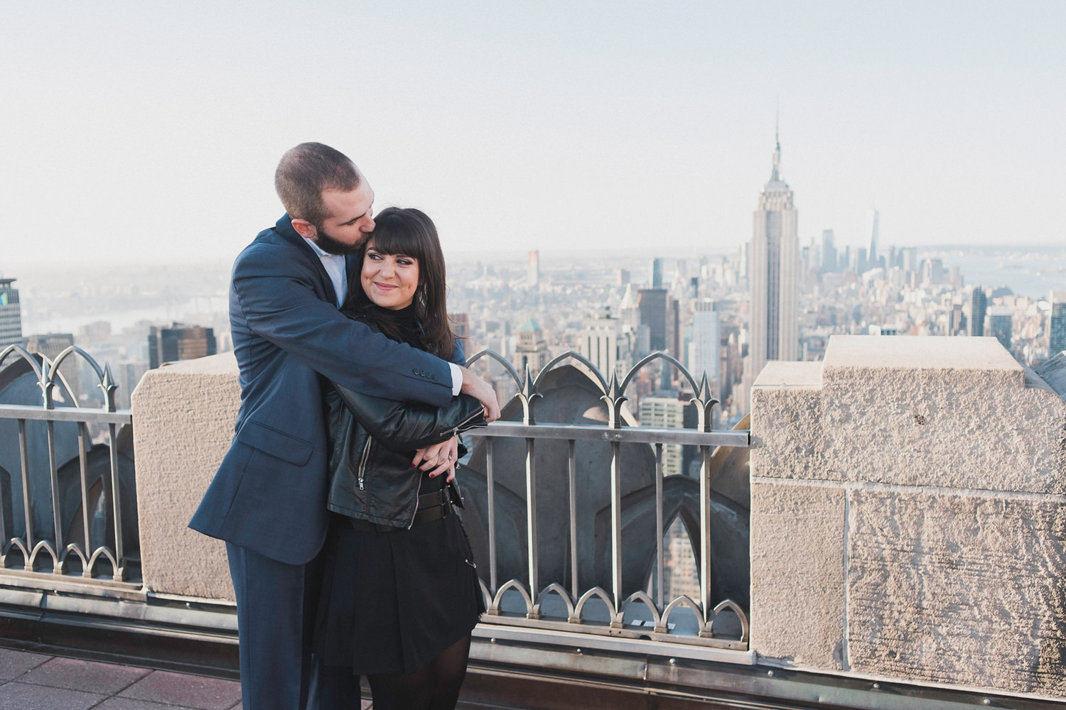 Markie & Jake's Top of the Rock NYC Engagement