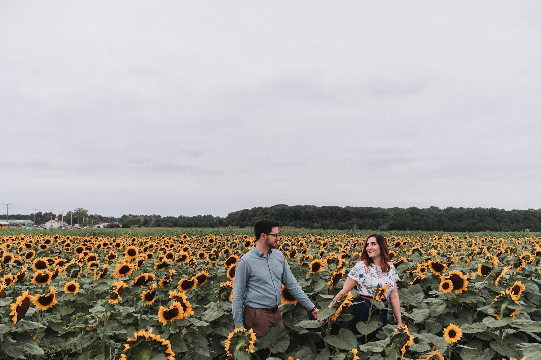 April & John's Sunflower Field Engagement