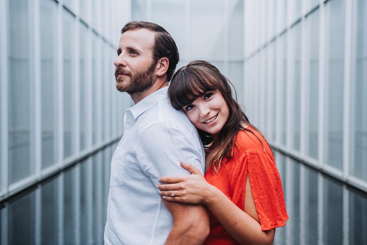 Samantha & Ryan's North Carolina Museum of Art Engagement | Rale