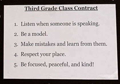 The final version of our class contract!