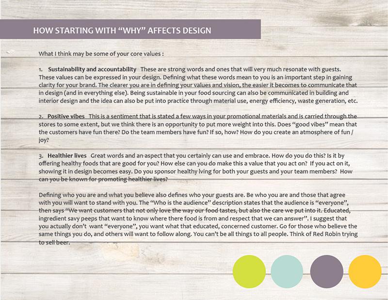 Preliminary design brief