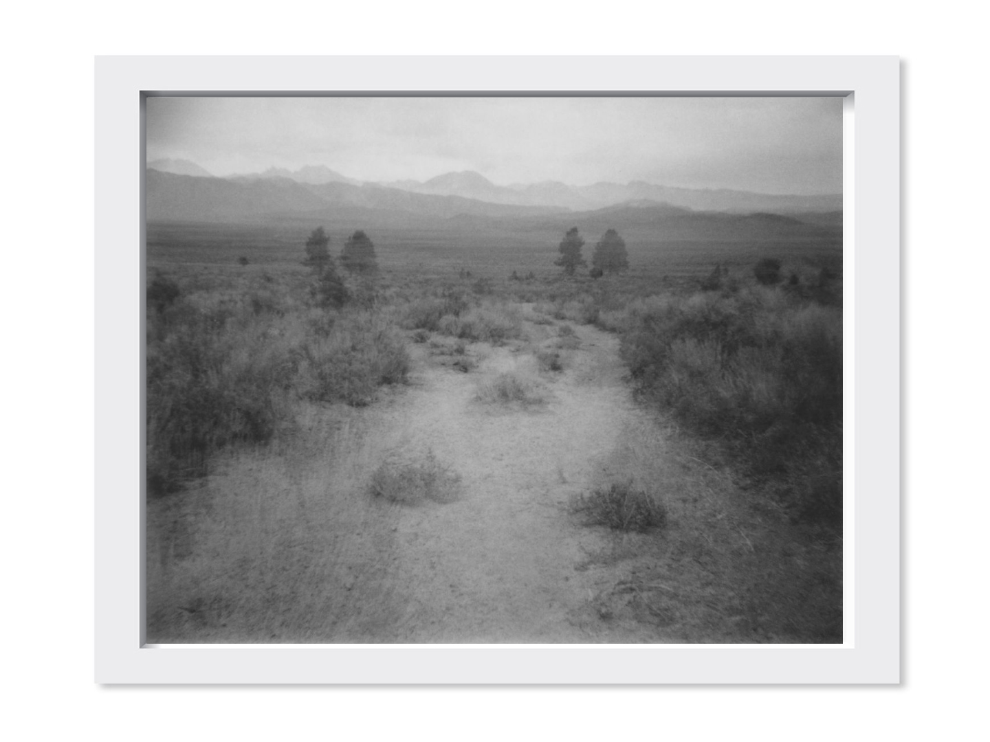 Sean McFarland,   Two Paths, Glass Mountains  , 2013-2015     8 x 10 in     Archival Pigment on Newsprint      Edition 1 of 3