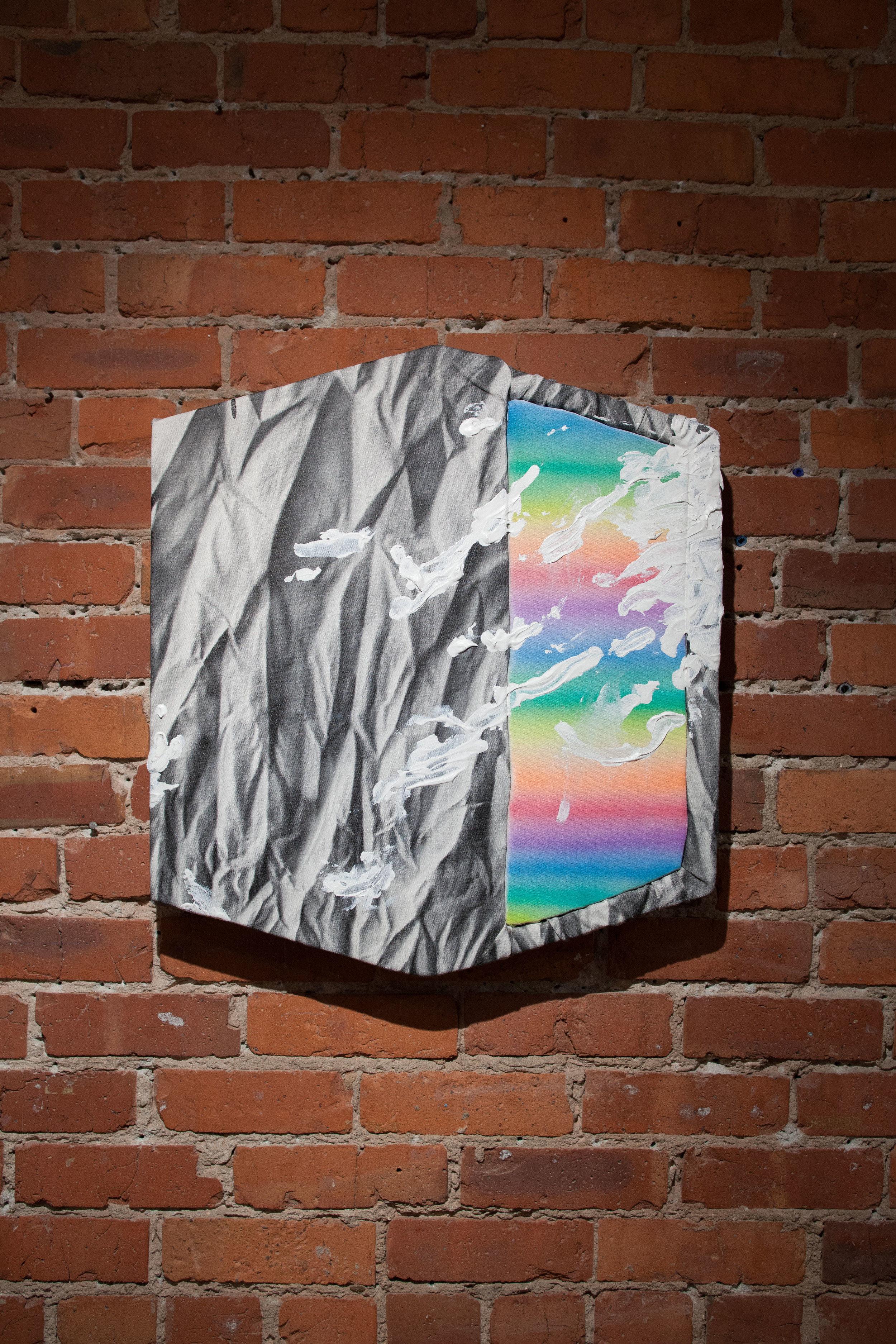 Royal Jarmon,  Grown , 2015  Acrylic on canvas over foam on wood panel,  25 x 21 1/2 in.