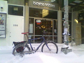 monster commuter in the snow