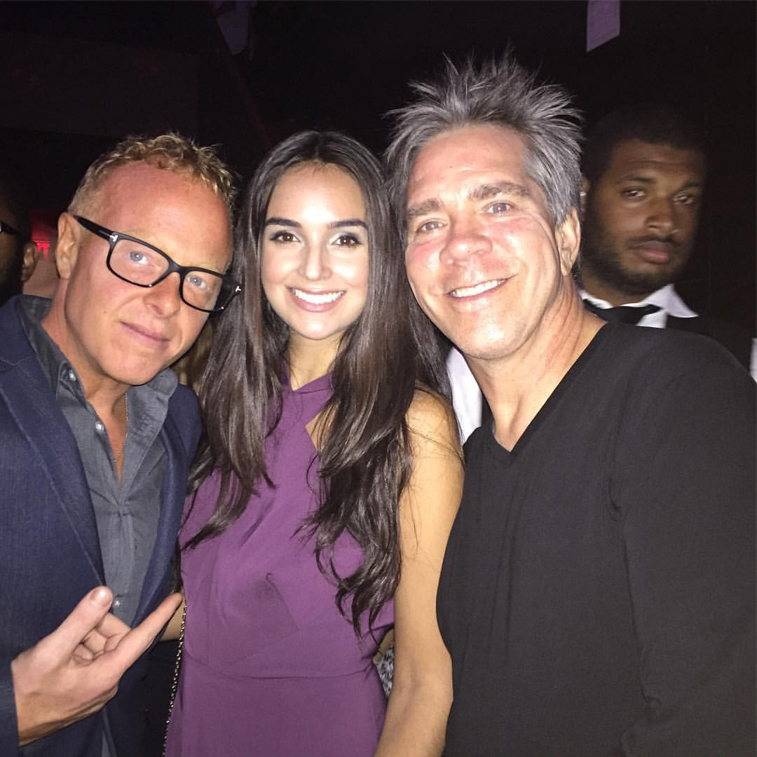 With Andy Hilfiger and artist Kourtney Kelly at New York Fashion Week