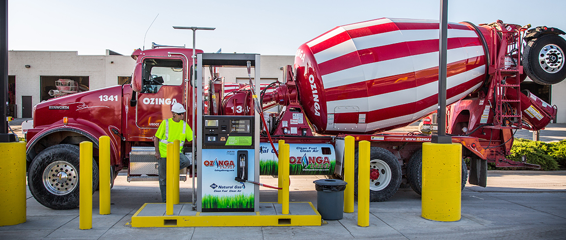 Ozinga' CNG Powered Ready-Mix Concrete Truck