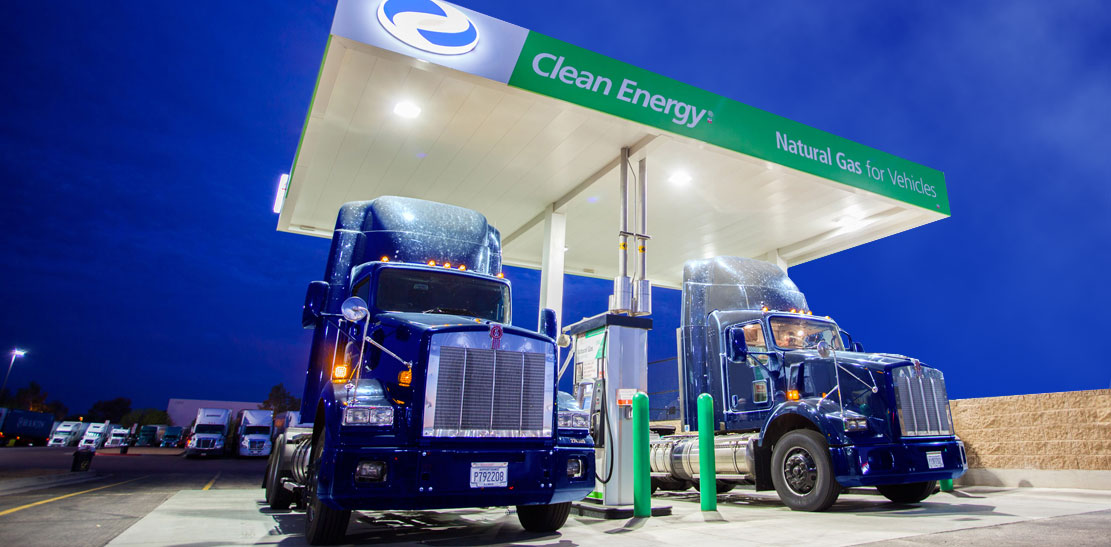Tractors in the ConAgg industry can easily exceed 20,000 gallons per year in fuel consumption, making them ideal targets for natural gas.  Image Credit: Clean Energy