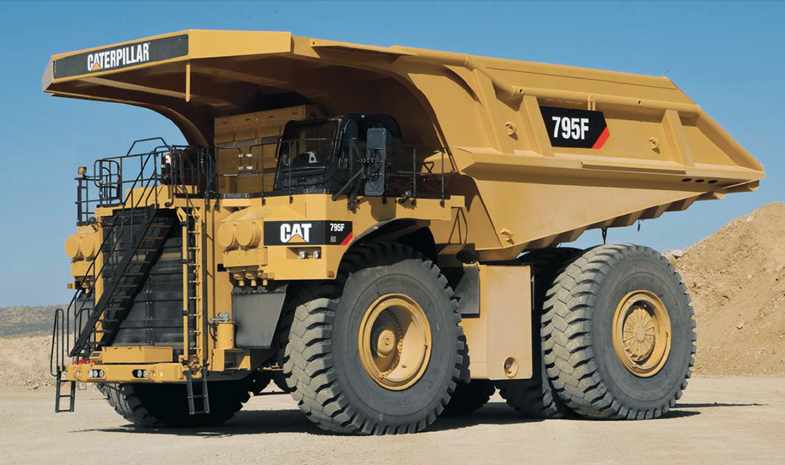 Caterpillar recently introduced an LNG option for the 793,795, and 797 hauling trucks. Image Credit: Caterpillar