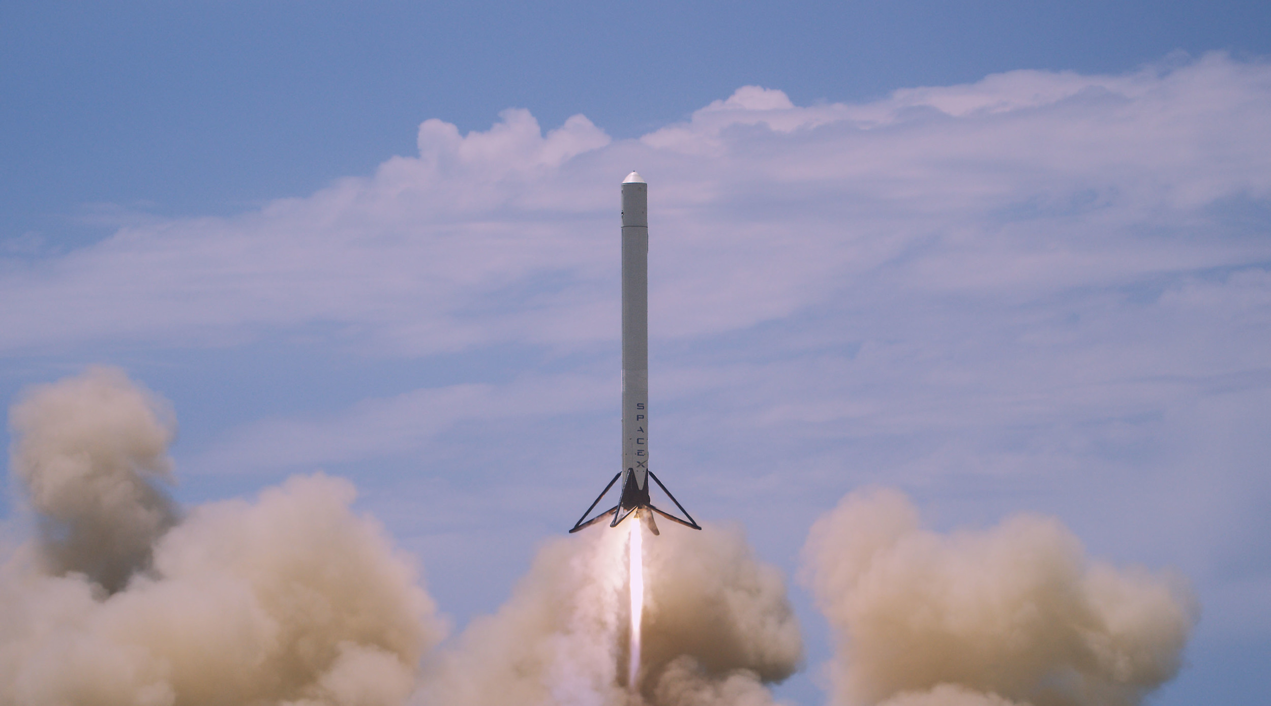 SpaceX testing the reusable rocket stage in Texas. Image Credit: SpaceX