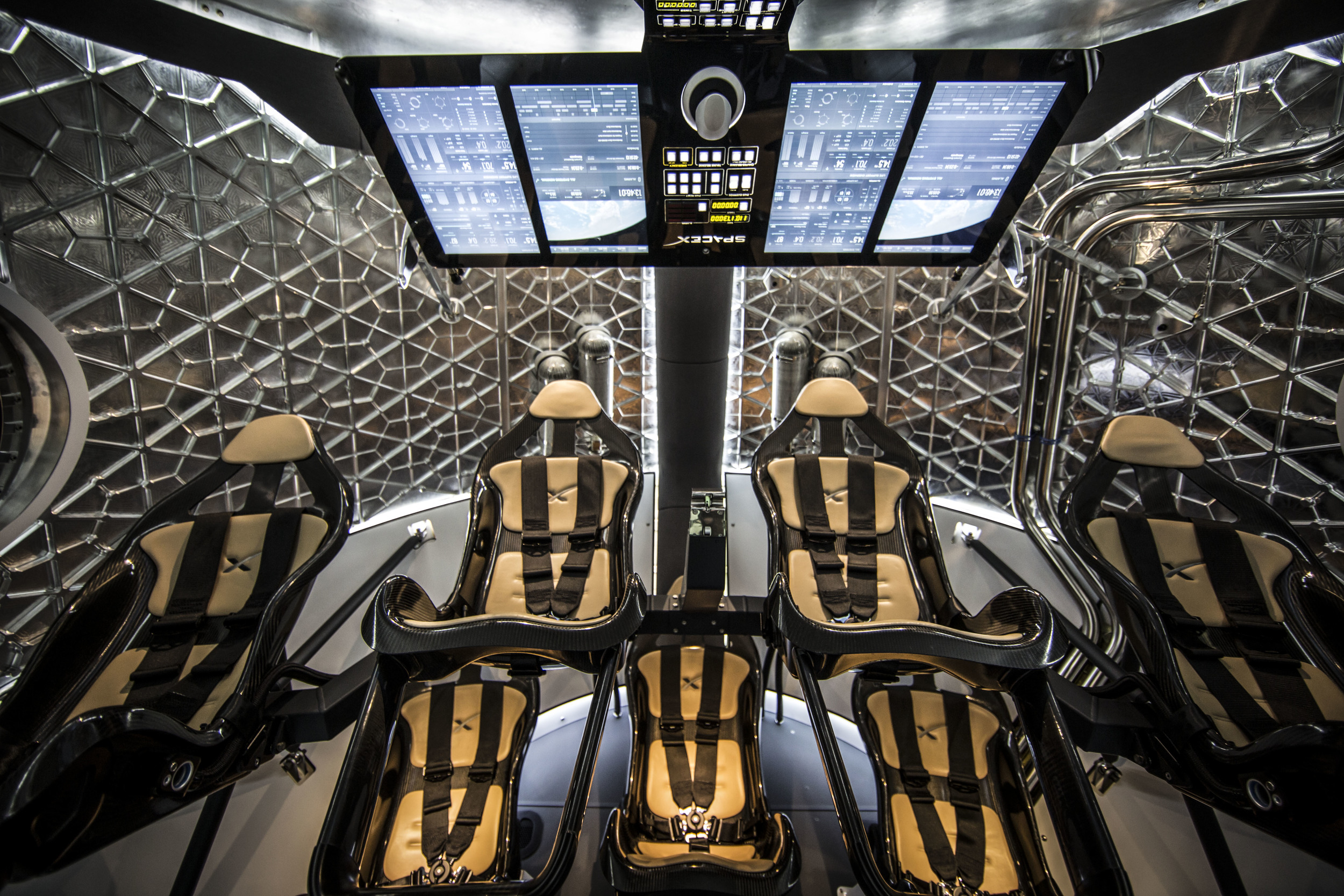 The SpaceX Dragon V2.  SpaceX was awarded a $2.6 billion contract to develop the spacecraft to full human-rated capacity.  Image Credit: SpaceX