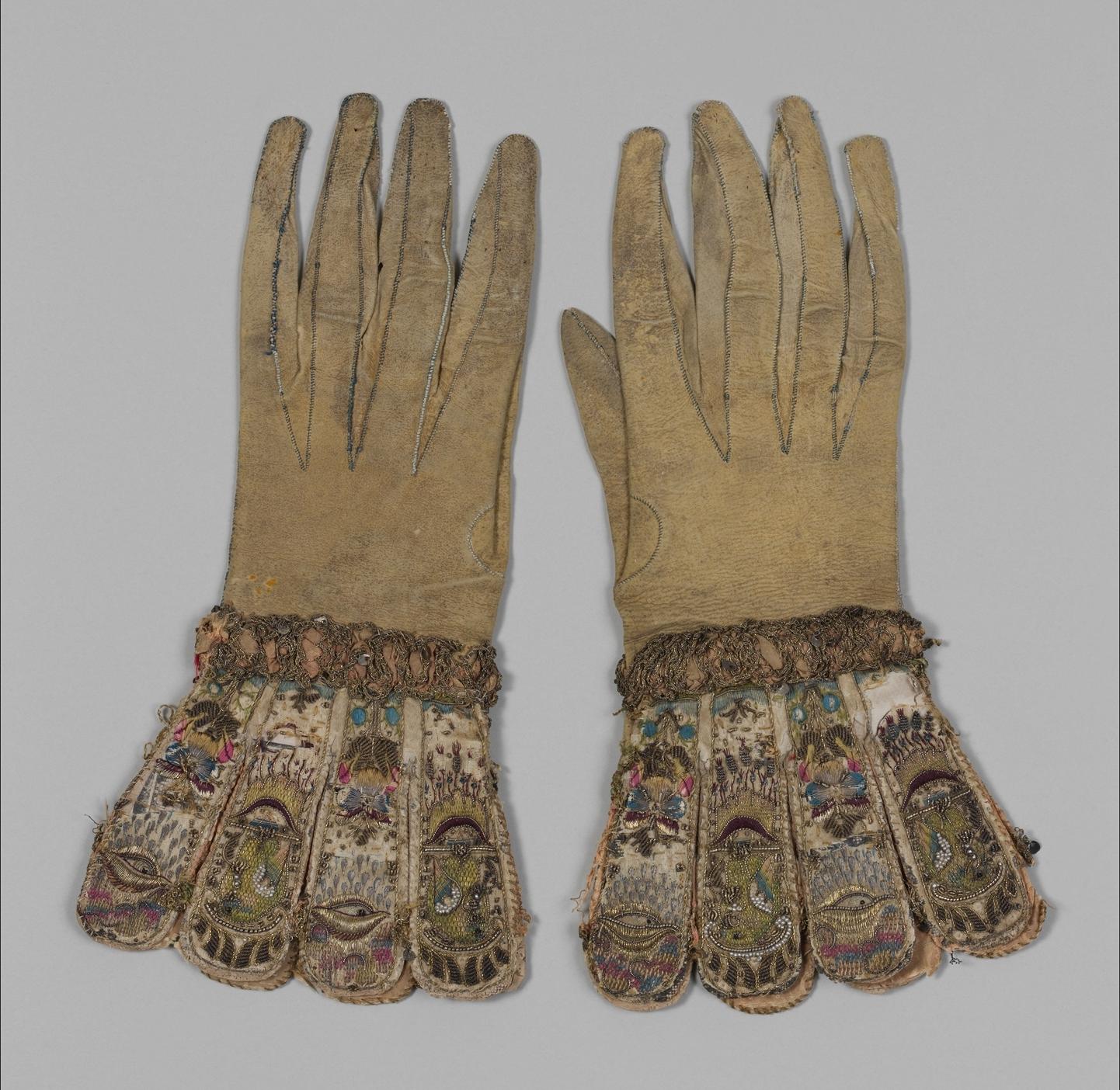 Pair of gloves , ca. 1600  Metropolitan Museum of Art (28.220.7, .8)