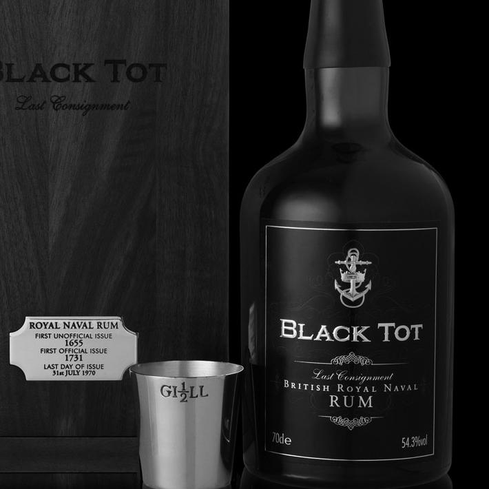 """BLACK TOT """"LAST CONSIGNMENT""""BRITISH ROYAL NAVAL RUM"""
