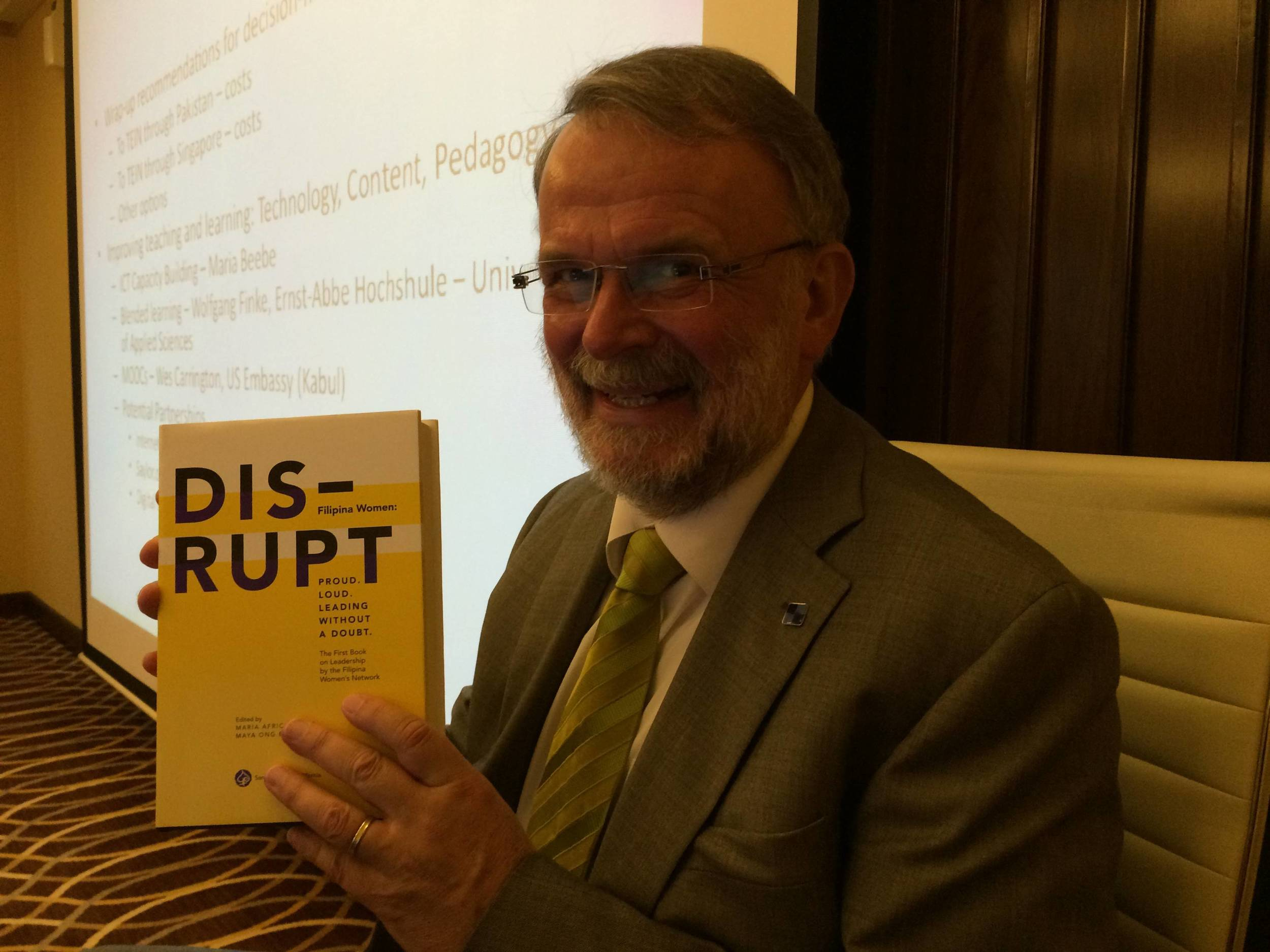 Congratulations from Dr. Walter Kaffenberger at the AfgREN workshop at Sheraton Deira in Dubai Oct 12-14, 2014. Maria Beebe, one of the editors is also co-Director for this set of Advanced Research Workshop grant from NATO.