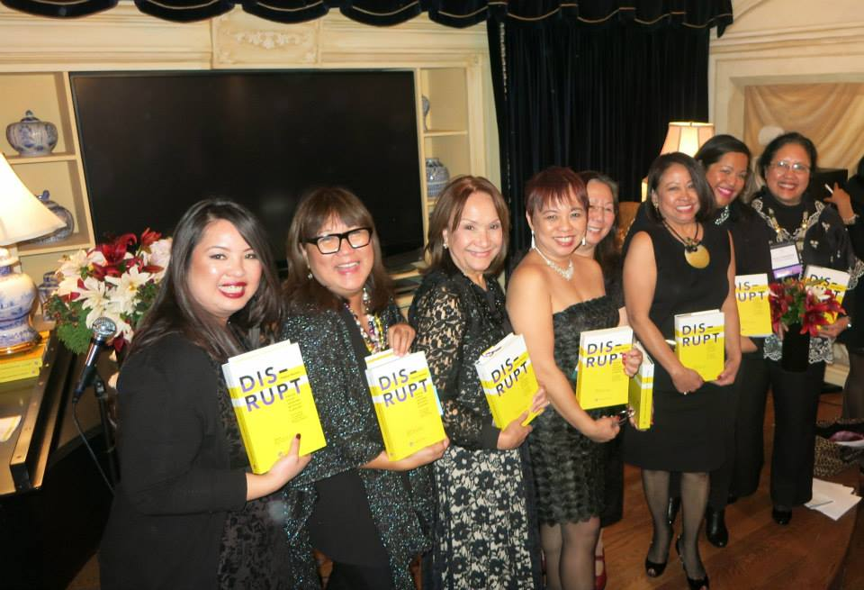 LtoR: Awesome DISRUPT Authors Annalisa Enrile, Marily Mondejar, Rocio Nuyda, Janet Nepales, Maria Beebe, Sonia Delen, Kristine Custodio, Elena Mangahas (Photo by  Ruben Nepales )
