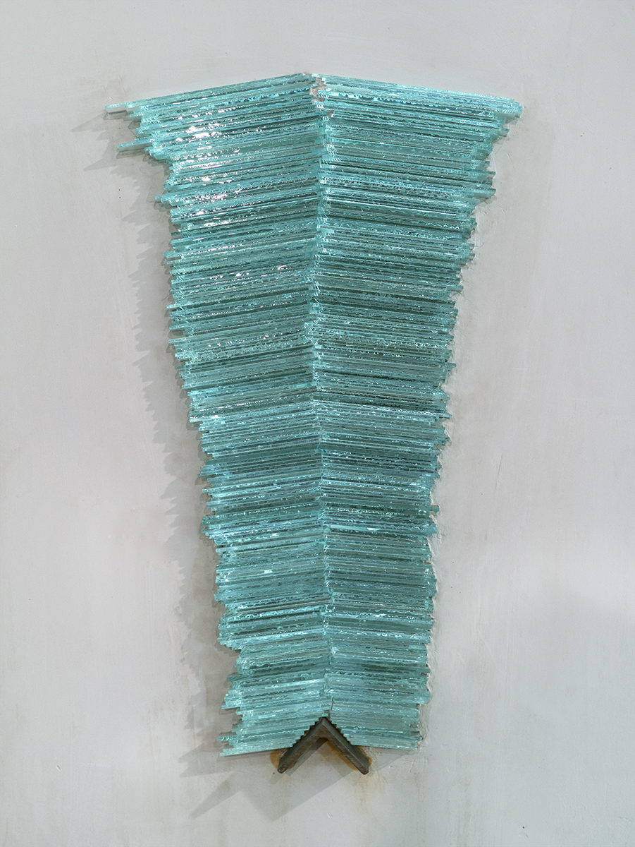 Thunderstuck  1 (detail)  2015  plaster, plate glass, angle iron, stone