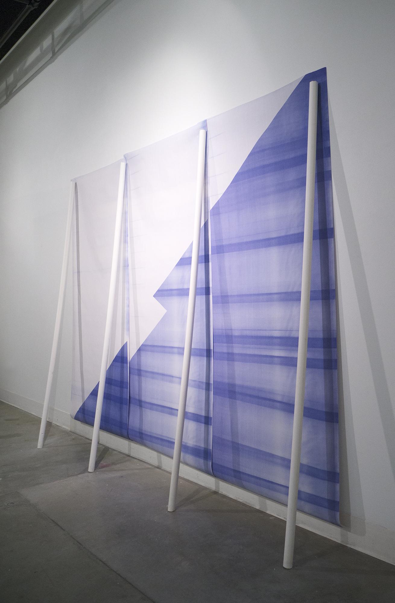 Blueprint for a Banner for a Blueprint    2014  diazo blueprints, cast plaster columns