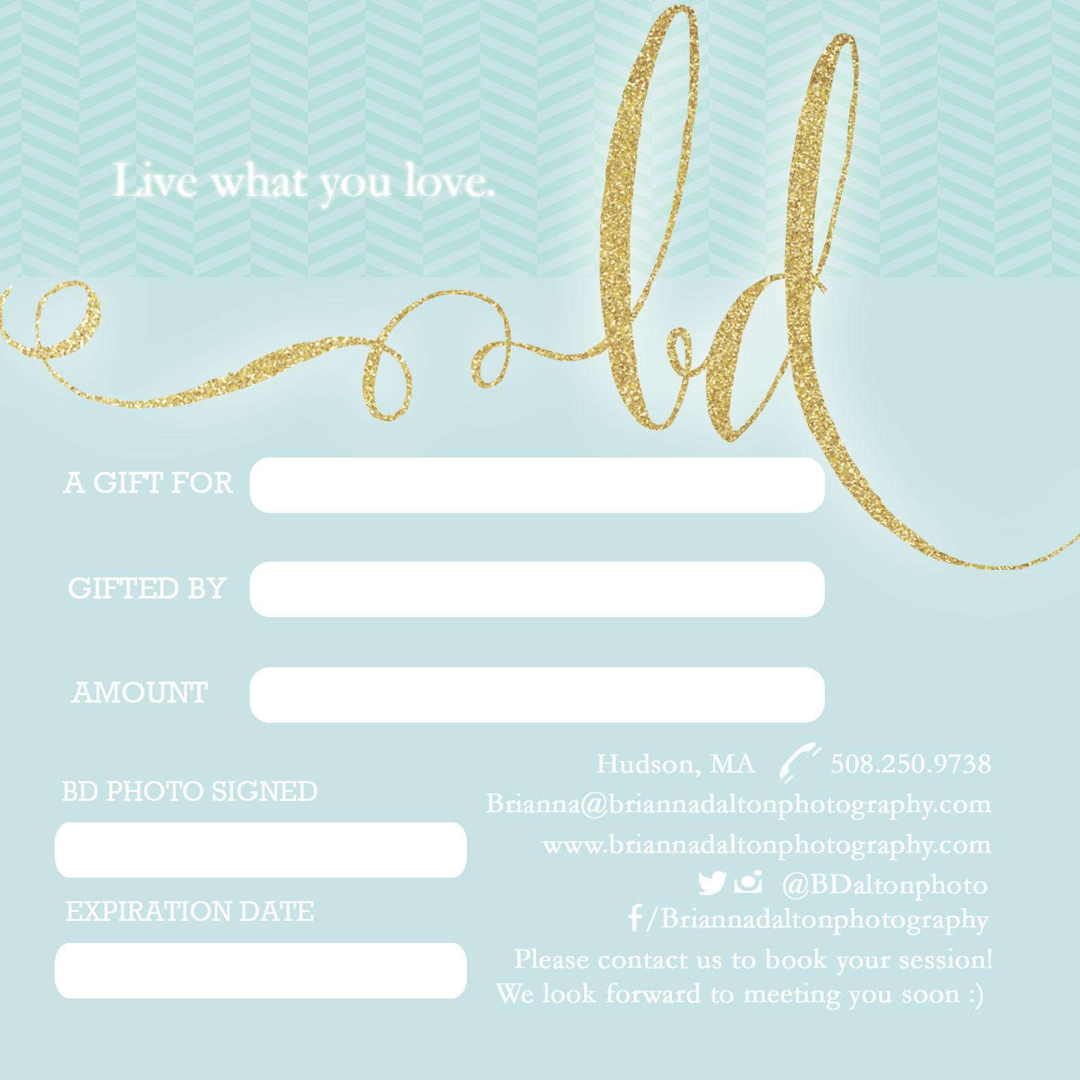 GIFT CARD W/O BD SIG