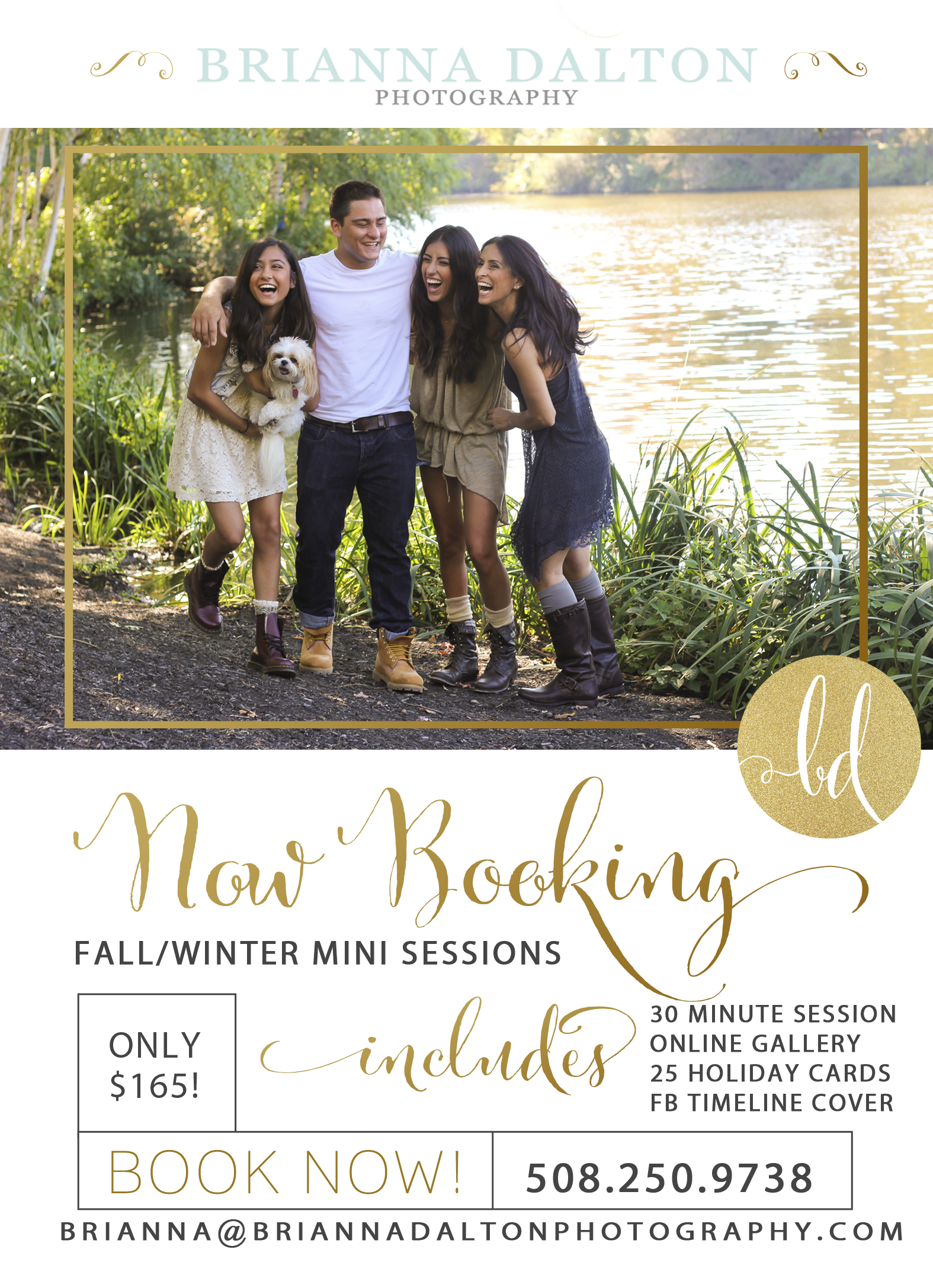 Fall Holiday Card Special  October 26th-December 8th 2014