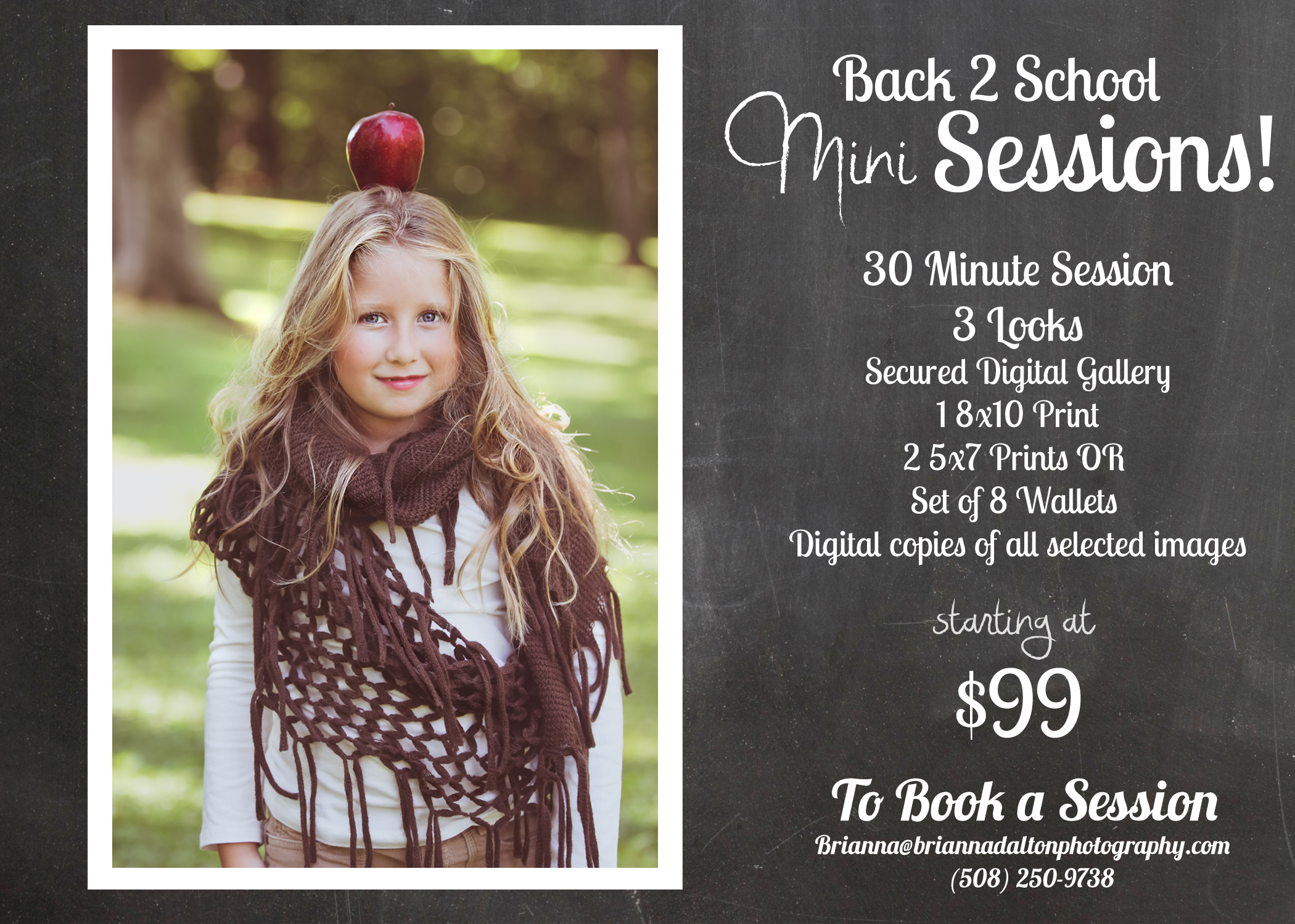Back to School Mini Sessions! Special ends September 31st!