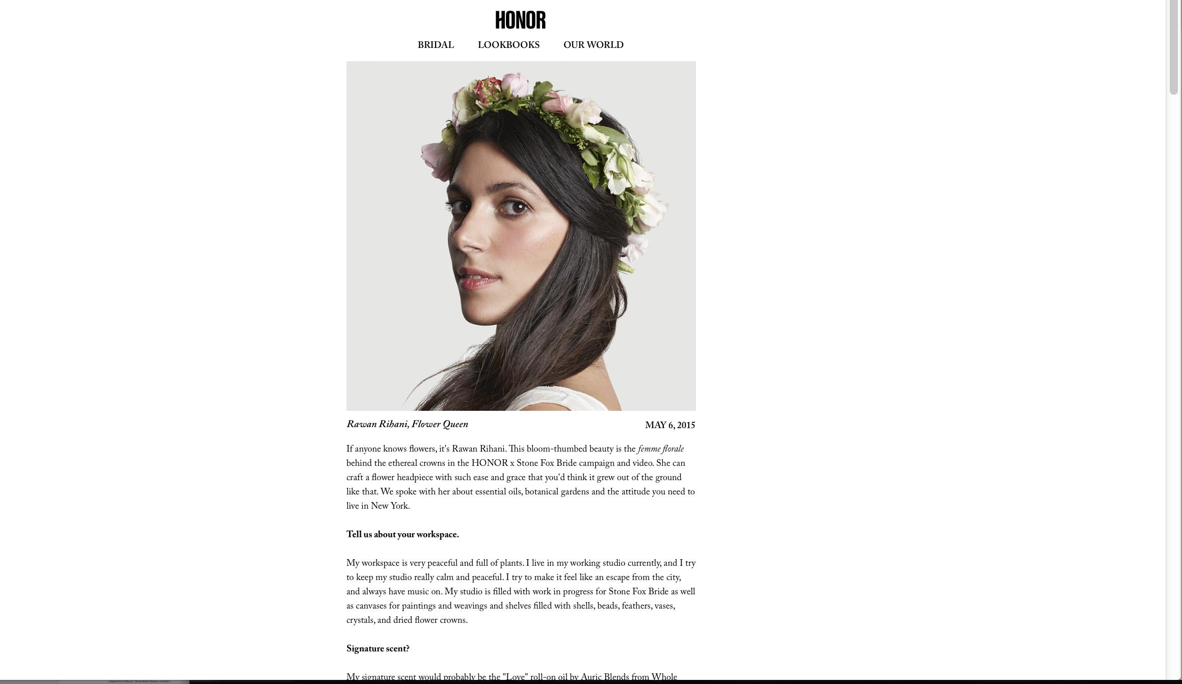HONOR // blog May 6, 2015