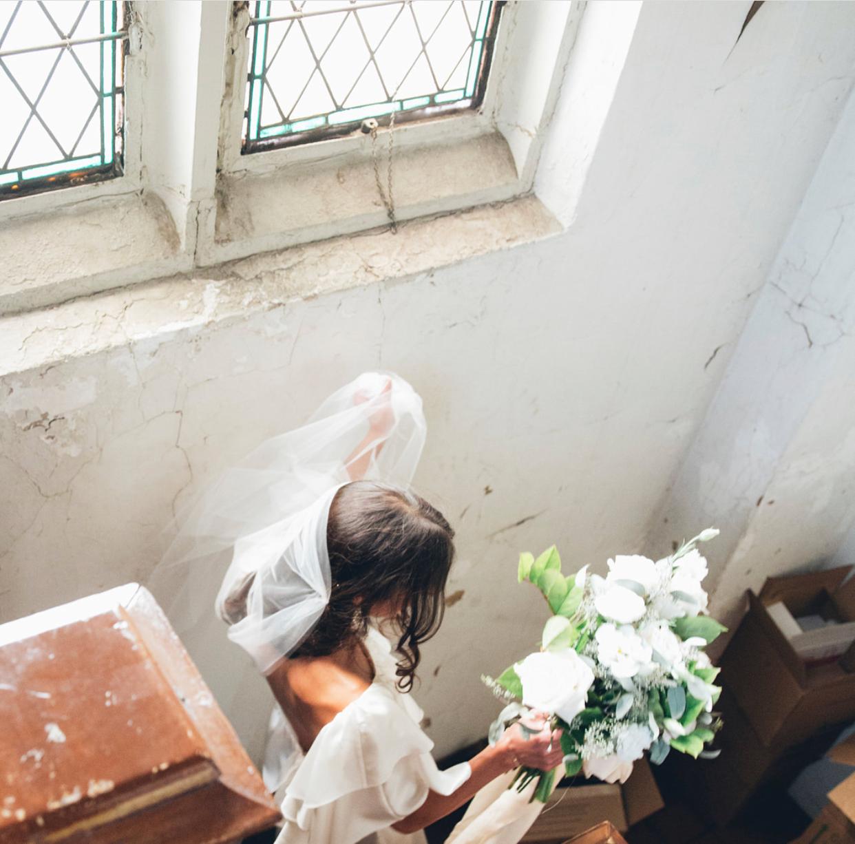 OUR BRIDE KARA IN THE DEVENDRA DRESS