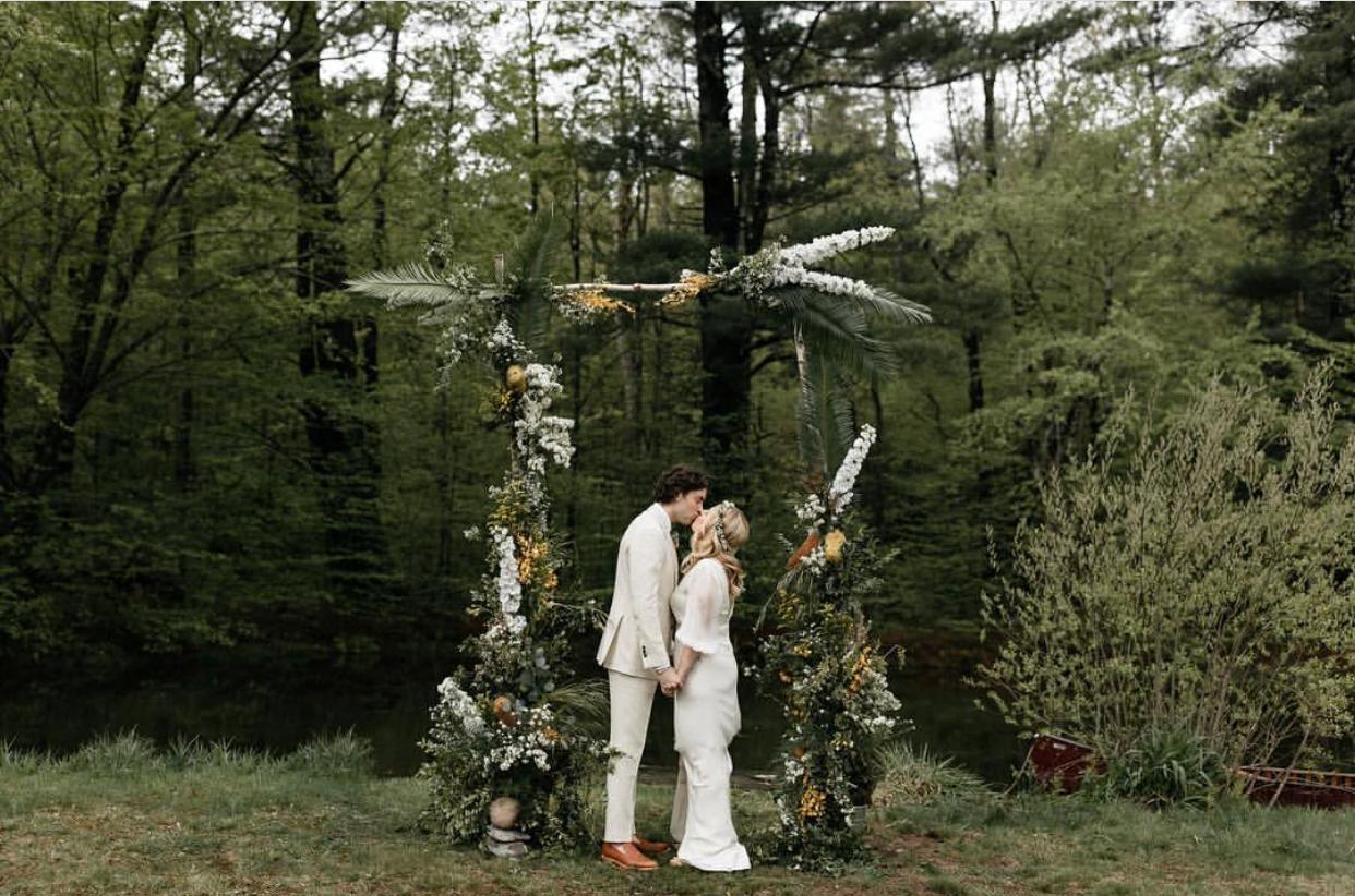 OUR BRIDE MEL IN CUSTOM WEDDING DRESS