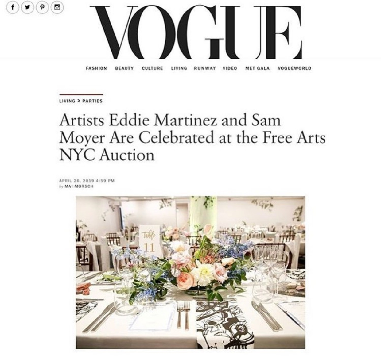 FREE ARTS AUCTION GALA 2019, VOGUE