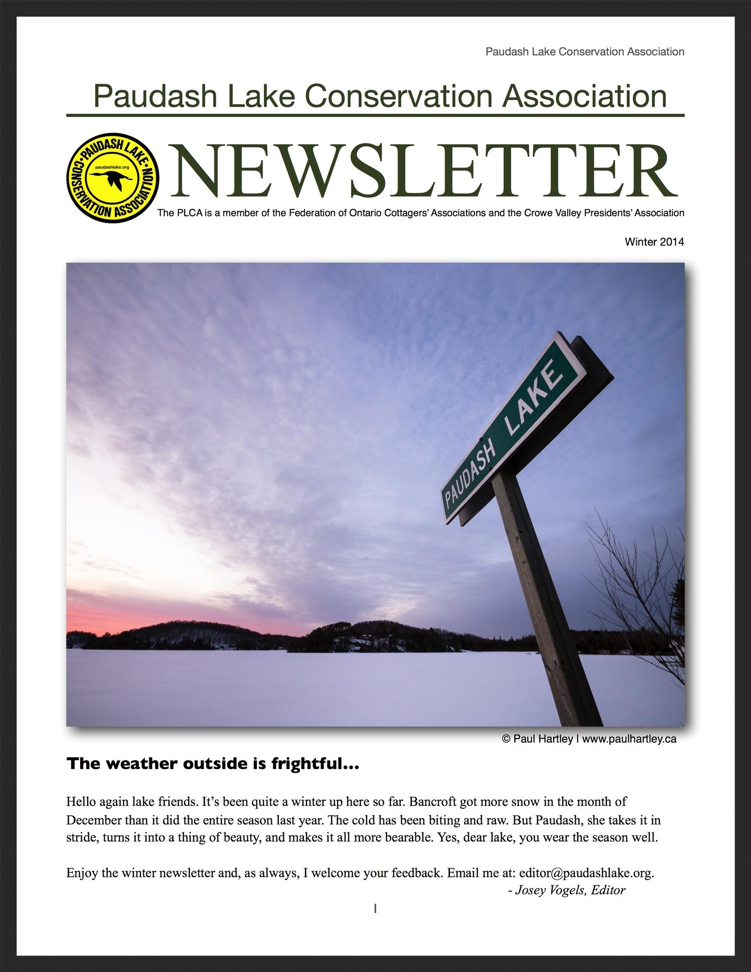 PLCA Newsletter, winter 2013/2014