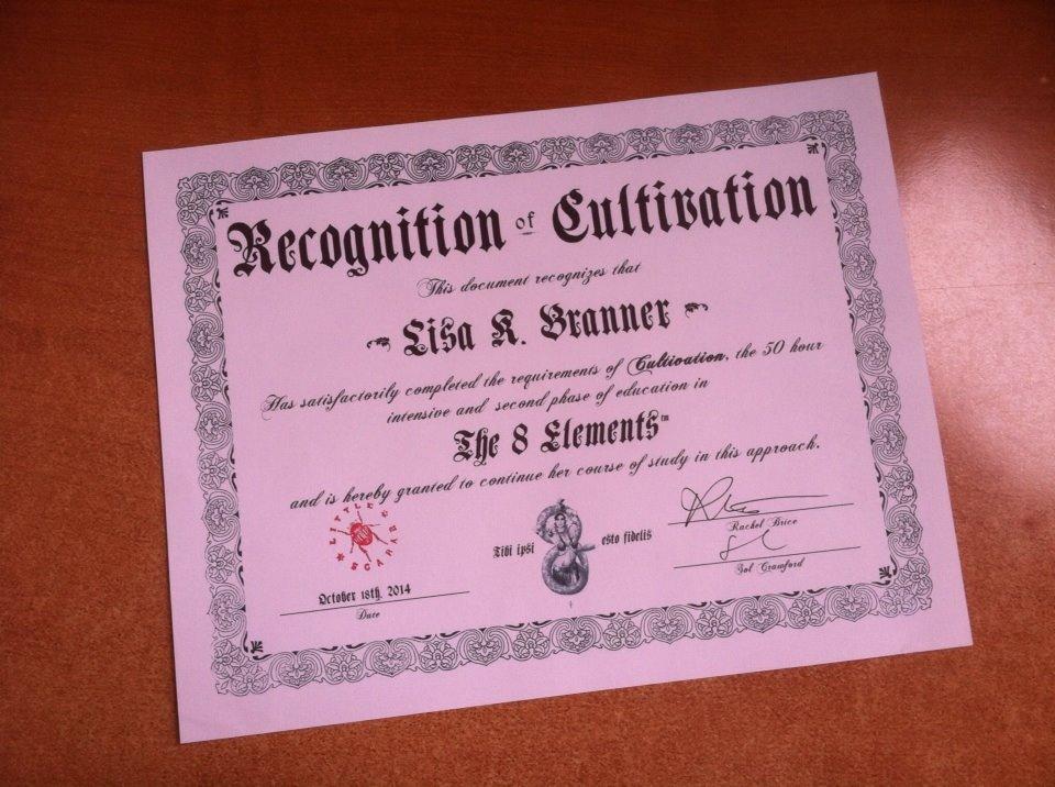 Cultivation Certificate