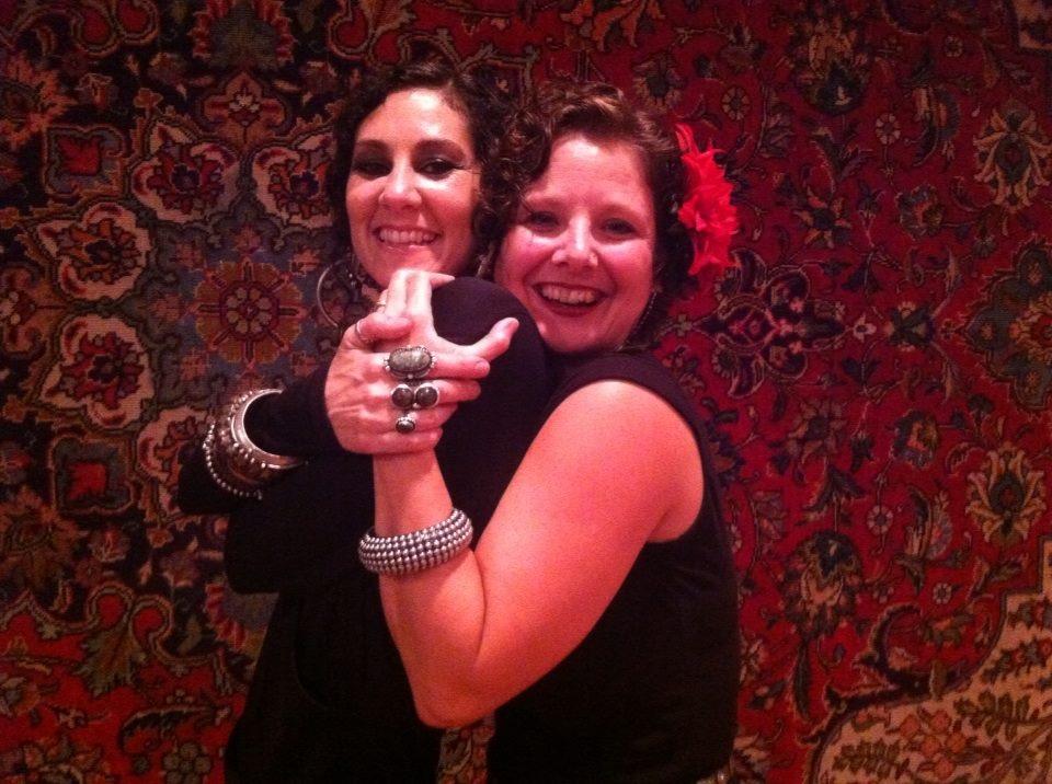 Rachel and Lisa at the hafla,