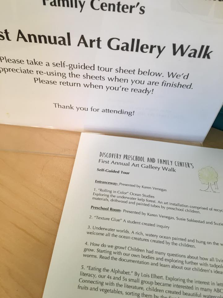 Each year, our teachers provide parents with an opportunity to see what their children have learned through this art gallery walk.