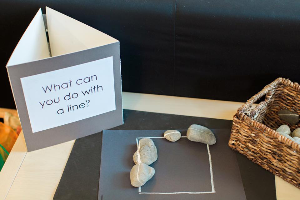 Provocations are found in Reggio inspired schools as ways to observe a child's interest in any given content. These can be used as the beginning of the teacher's path of observation and creation of curriculum.