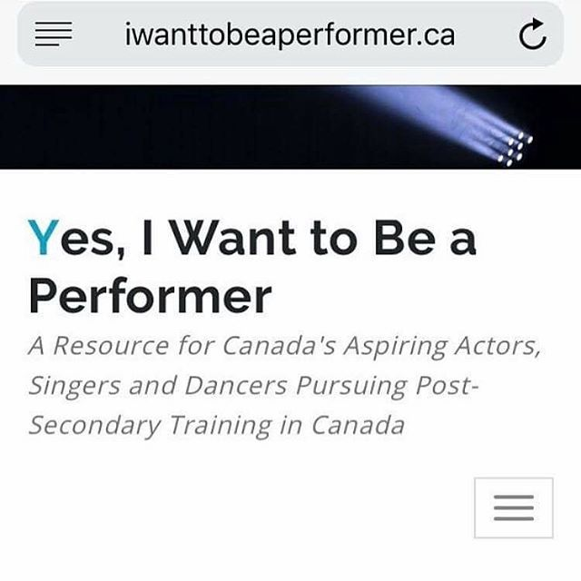 Check out this INCREDIBLE website @nadyacorscadden created all about post-secondary arts training! Find the program that best suits you and your #goals! #gotoclass #trainhardplayhard #qbc #danceducators #artsresource