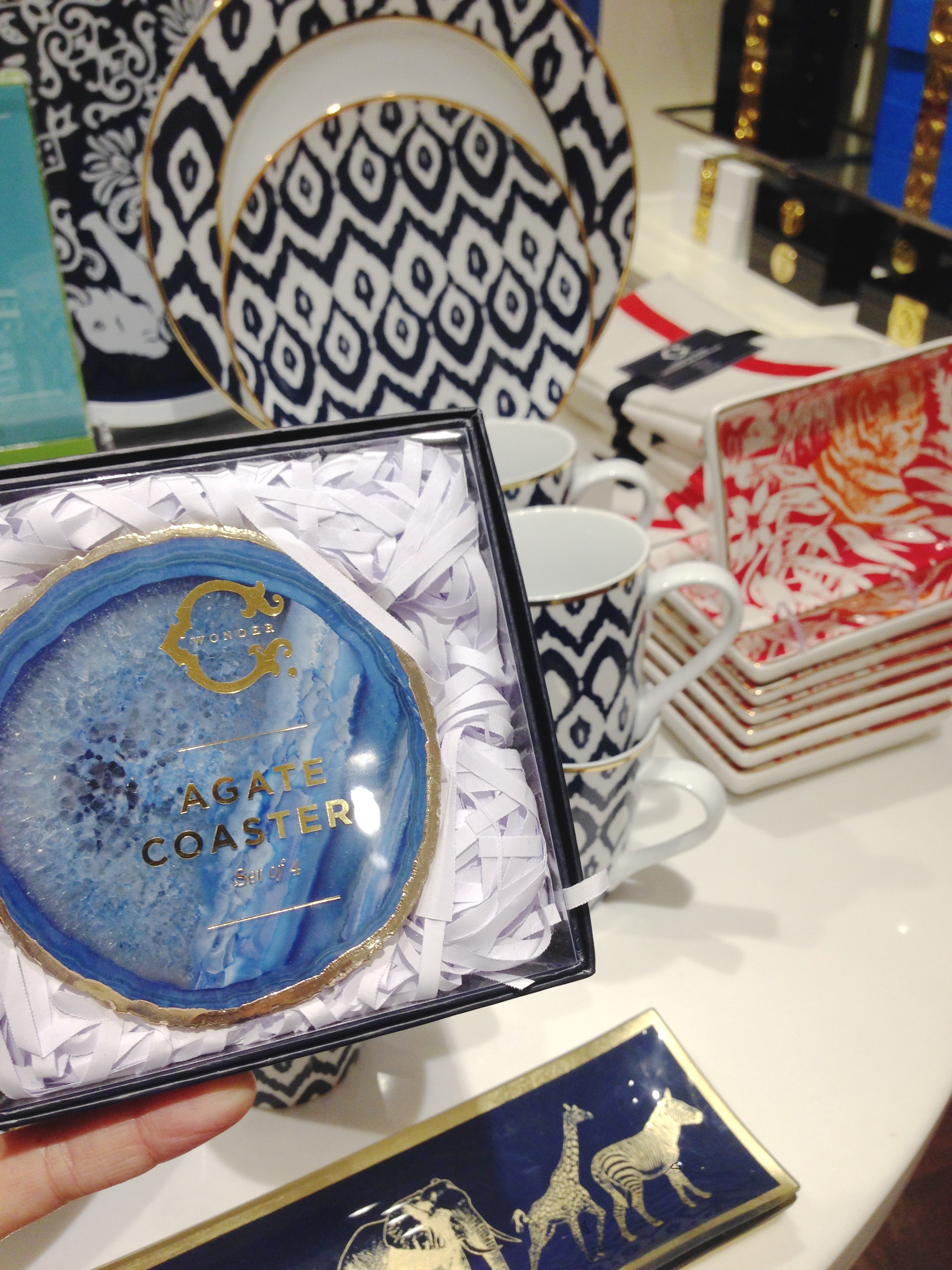 These coasters, like many items in the store, come in a variety of colors. What a great Hostess or Co-worker gift!