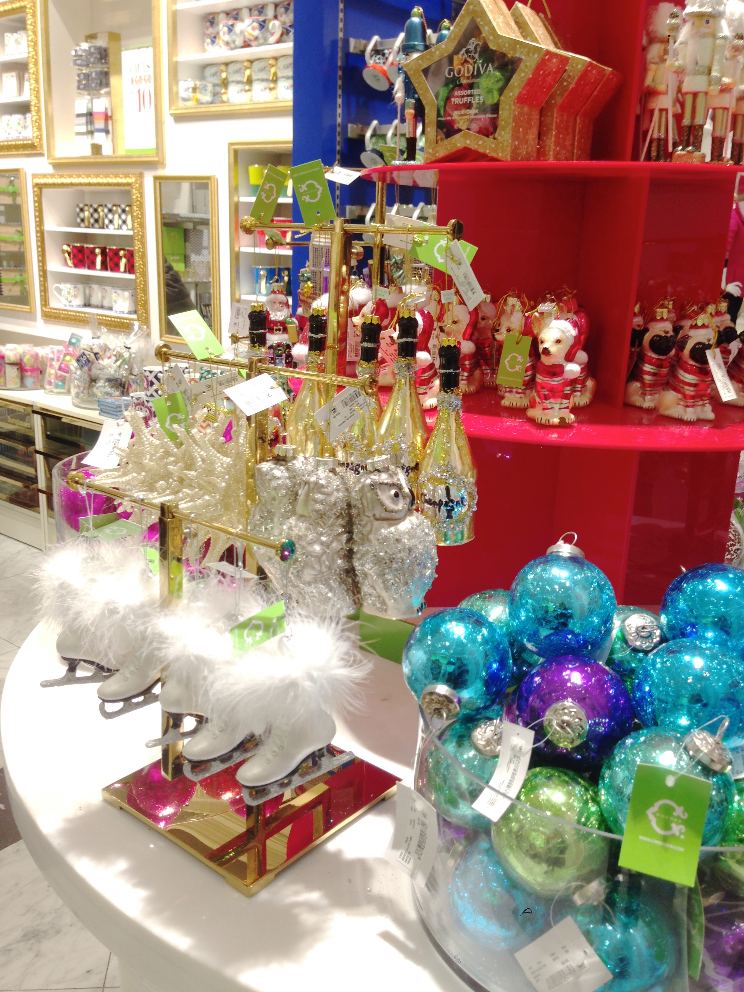 The ornaments- get them while you can, they're a great deal!