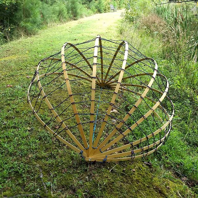 One Failure removed, Ten Successes becomes a little shell basket perched at the edge of a lovely pond, for the time being. . . . . . #sculpture #temporary #art #artist #ncart #ncartist #installation
